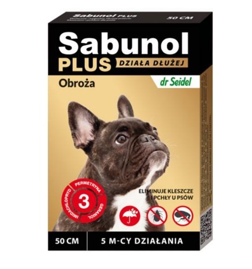 SABUNOL PLUS - obroża przeciw pchłom i kleszczom o przedłużonym działaniu dla psa 50 cm
