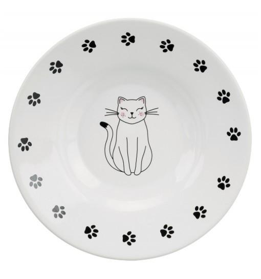 Miska ceramiczna dla ras krótkopyskich, śr. 15cm