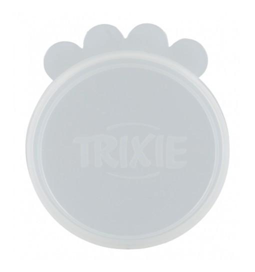 Trixie Pokrywka do puszki - przezroczysta, silikonowa