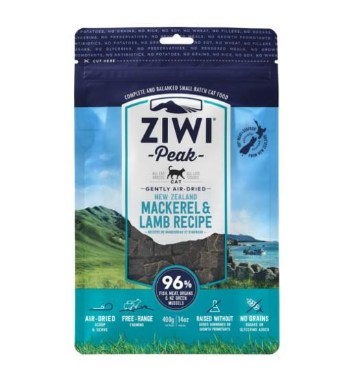 Ziwi Peak Mackerel&Lamb Cat - delikatnie suszona powietrzem makrela z jagnięciną 400g