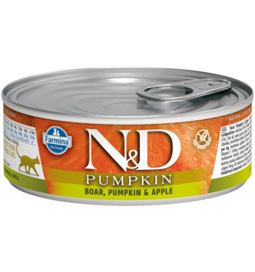 N&D PUMPKIN BOAR & APPLE Adult Cat - puszka 80g