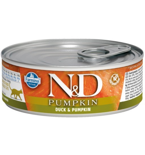 N&D PUMPKIN DUCK & PUMPKIN Adult Cat - puszka 80g
