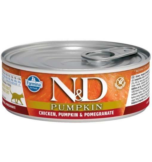 N&D PUMPKIN CHICKEN & POMEGRANATE Adult Cat - puszka 80g