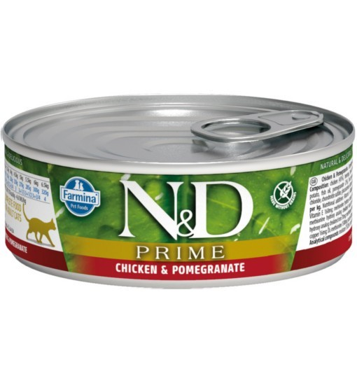 N&D CHICKEN & POMEGRANATE Adult Cat - puszka 80g