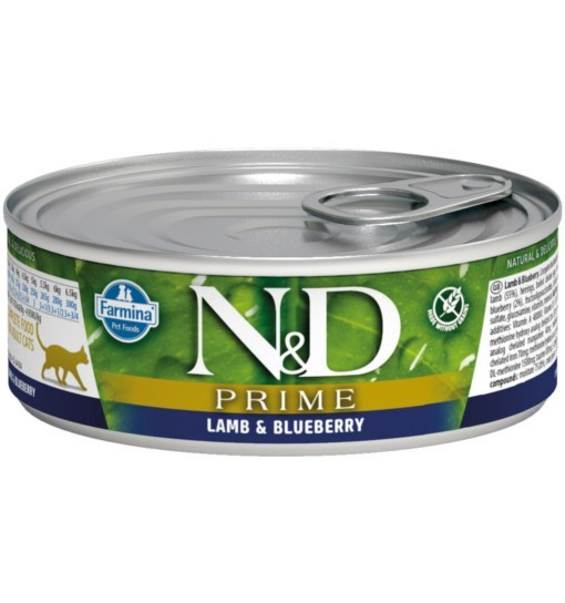 N&D LAMB & BLUEBERRY Adult Cat - puszka 80g