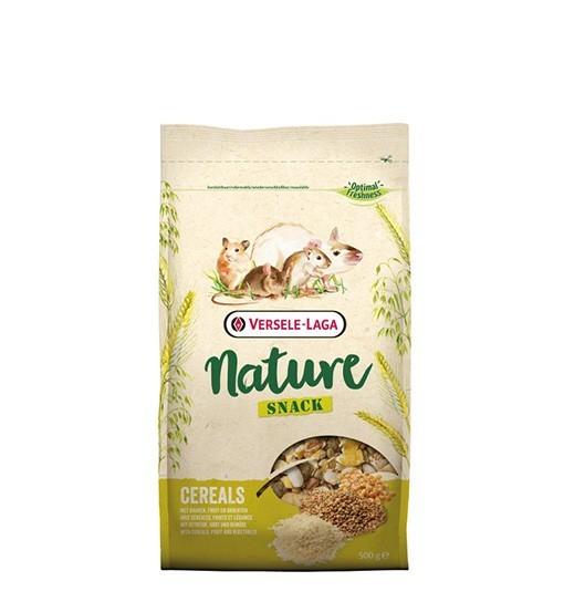 Versele-Laga Snack Nature Cereals 700 g - prażone zboża, owoce i warzywa dla gryzoni i królików