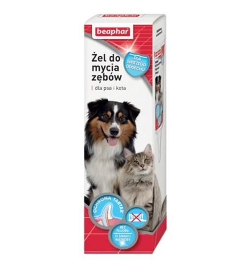 Beaphar Żel do mycia zębów dla psów i kotów 100g - smak wątróbki