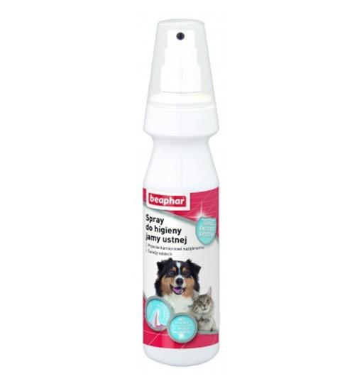 Beaphar Spray do higieny jamy ustnej 150 ml - odświeżacz oddechu w sprayu dla psów i kotów