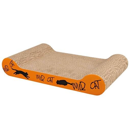 Trixie Drapak kartonowy Wild Cat 41x7x24 cm, pomarańczowy