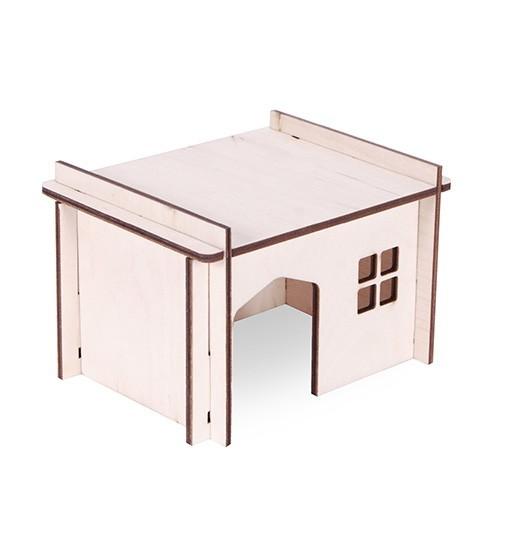 Pet Inn Składany domek dla gryzoni z prostym dachem