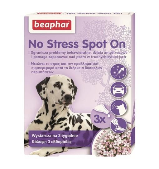 Beaphar No Stress Spot On Dog 3x0,7ml - preparat wyciszający dla psów w kroplach