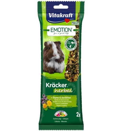 Vitakraft Emotion Kracker Herbal dla świnki morskiej /2szt