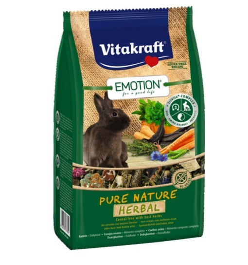 Vitakraft Emotion Pure Nature Herbal 600g - pokarm dla królika