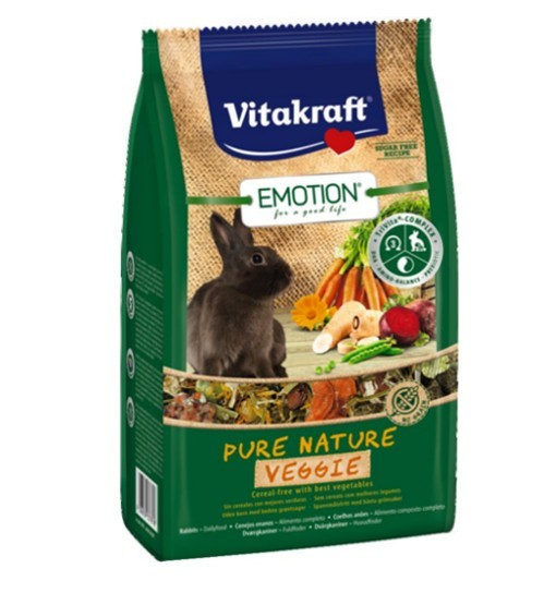 Vitakraft Emotion Pure Nature Veggie 600g - pokarm dla królika