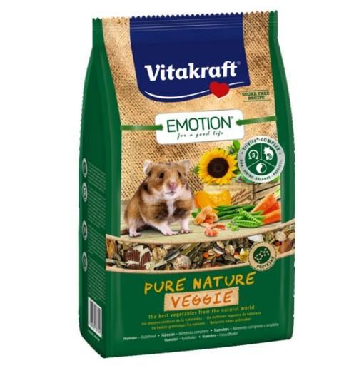 Vitakraft Emotion Pure Nature Veggie 600g - pokarm dla chomika
