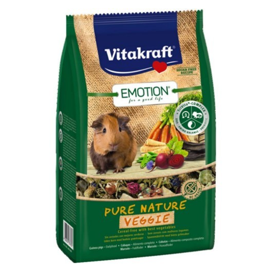 Vitakraft Emotion Pure Nature Veggie 600g - pokarm dla świnki morskiej