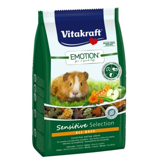 Vitakraft Emotion Sensitive 600g - pokarm dla świnki morskiej