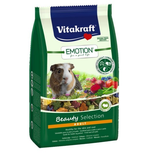 Vitakraft Emotion Beauty 600g - karma dla świnki morskiej