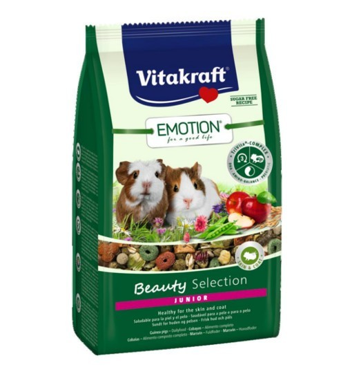 Vitakraft Emotion Beauty Junior 600g - karma dla młodych świnek morskich