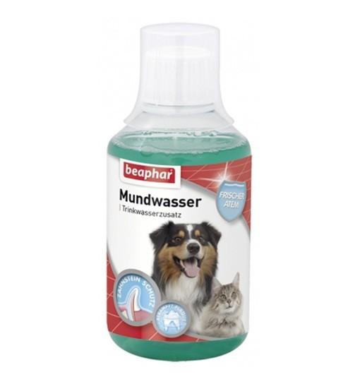 Beaphar Mundwasser 250 ml - płyn do pielęgnacji jamy ustnej i zębów dla psów i kotów