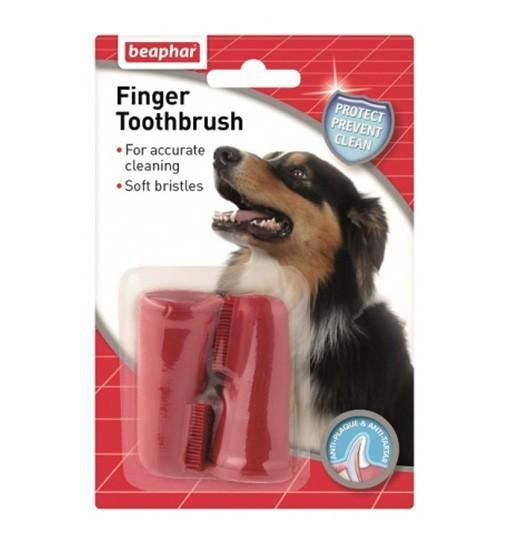 Beaphar Finger Toothbrush 2 szt. - szczoteczka do zębów naparstkowa