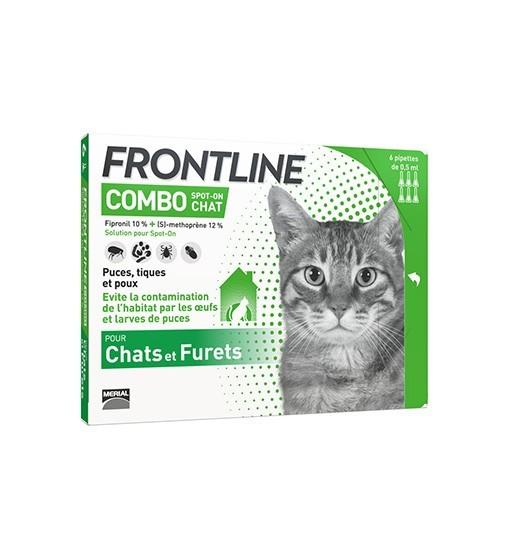 Frontline COMBO dla kotów i fretek 3x0,5ml