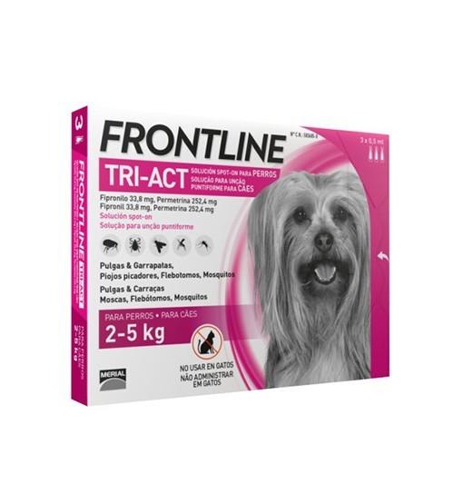 Frontline TRI-ACT dla psów 2-5 kg 3x0,5 ml
