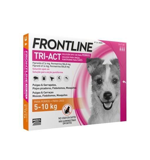 Frontline TRI-ACT dla psów 5-10 kg 3x1 ml