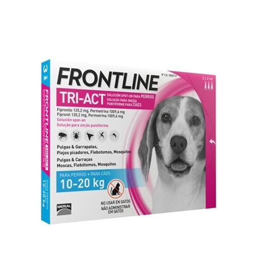 Frontline TRI-ACT dla psów 10-20 kg 3x2 ml