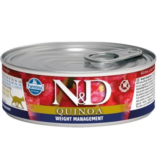 N&D QUINOA WEIGHT MANAGEMENT Adult Cat - puszka 80g