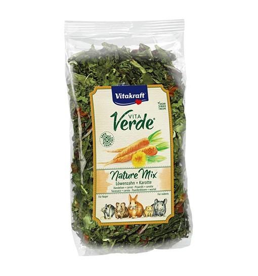 Vitakraft Vita Verde Nature Mix 100g - mieszanka mniszek/marchewka dla gryzoni