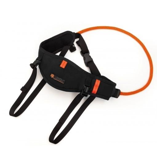 JoQu Light Canicross Belt PLUS Black - pas do biegania odciążający odcinek lędźwiowy