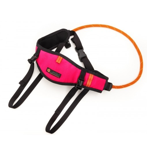 JoQu Light Canicross Belt PLUS Pink - pas do biegania odciążający odcinek lędźwiowy