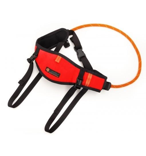 JoQu Light Canicross Belt PLUS Red - pas do biegania odciążający odcinek lędźwiowy