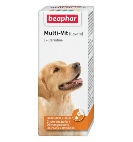 BeapharMulti-vit (Laveta) dla psów 50ml - preparat poprawiający kondycję sierści dla psów