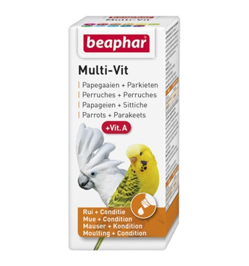 Beaphar Bogena Multi-Vit for Parrots 20ml - preparat witaminowy dla papug