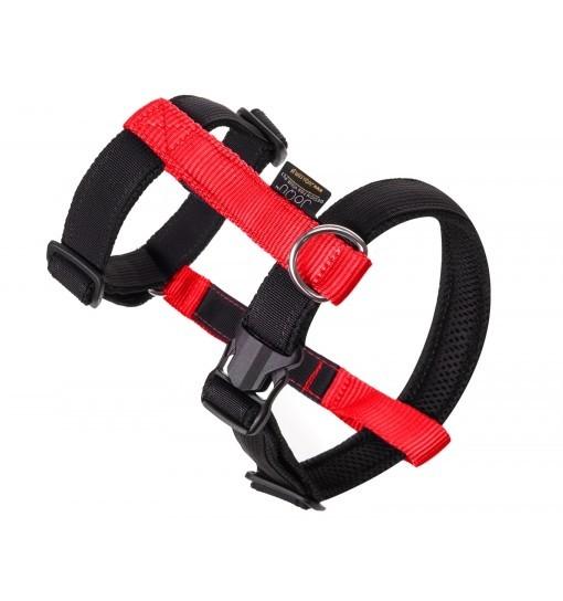 JoQu Szelki Guard - czarno-czerwone