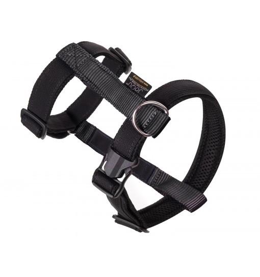 JoQu Guard - szelki z taśmą odblaskową - czarne