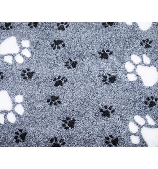 Canifel Posłanie Dry Bed - duże łapki, biało/czarne