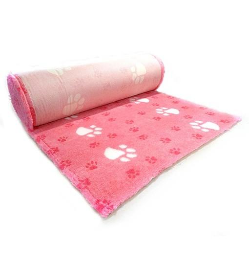 Canifel Posłanie Dry Bed - duże łapki, biało/różowe