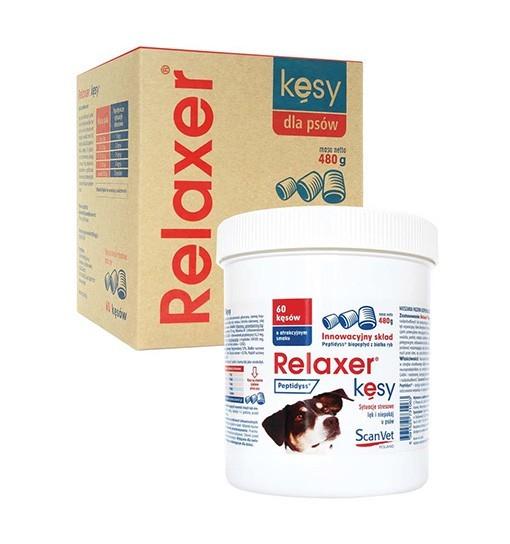 Relaxer Kęsy 480g - dla psów w sytuacjach stresowych, lękowych i niepokoju /60 kęsów