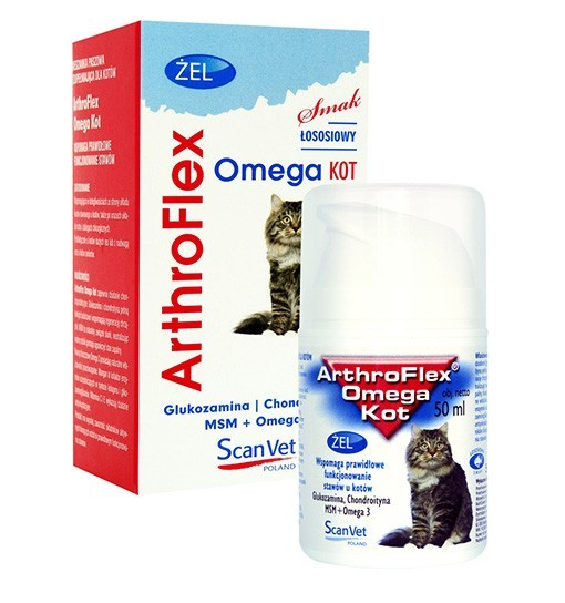 ArthroFlex Omega Kot 50 ml - żelowy preparat o działaniu chondroprotekcyjnym