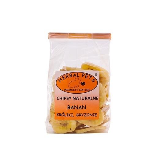 Chipsy naturalne Banan króliki gryzonie 75 g