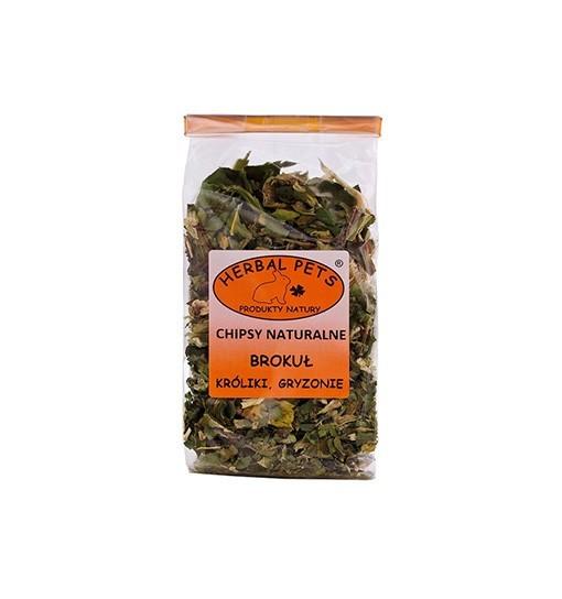 Chipsy naturalne Brokuł króliki gryzonie 50 g