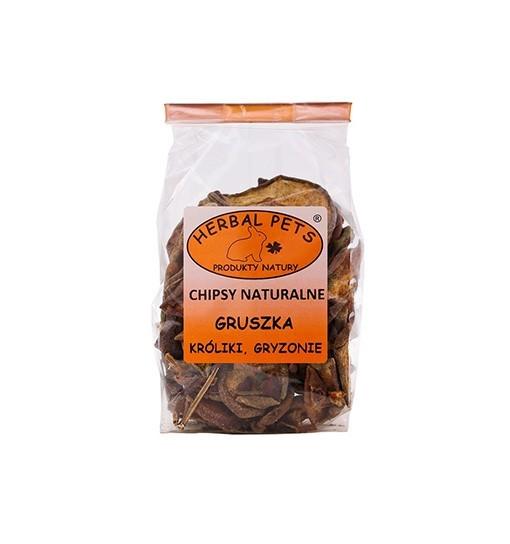 Chipsy naturalne Gruszka króliki gryzonie 75 g