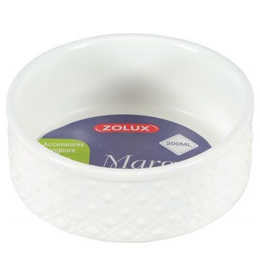 Zolux Gresowa miska dla gryzoni MARGOT biała