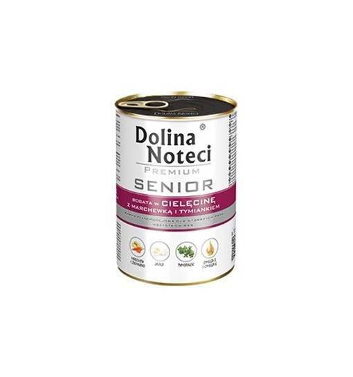 Dolina Noteci Premium SENIOR Bogata w cielęcinę z marchewką i tymiankiem 400 g