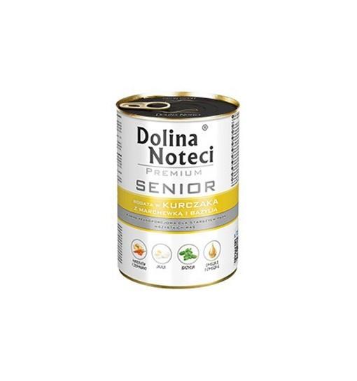 Dolina Noteci Premium SENIOR Bogata w kurczaka z marchewką i bazylią 400 g