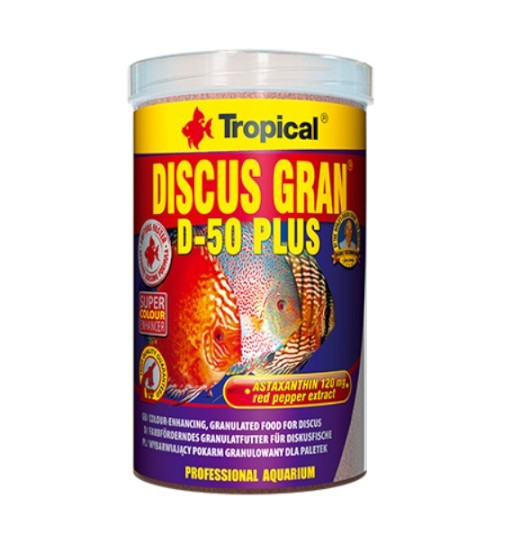 Tropical Discus Gran D-50 Plus 1000ml/440g