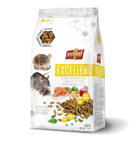 Vitapol EXCELLENT karma pełnoporcjowa dla szczurów i myszy 500g